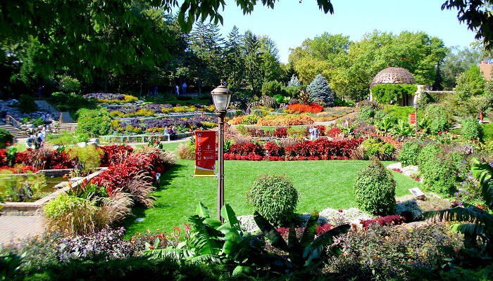 Soak in ultimate peace at the Sunken Garden